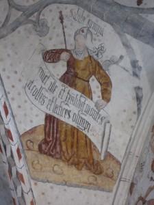 Peinture de la cathédrale Notre-Dame-de-la-Sède. Une sibylle.
