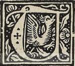 initiale ornée d'un oiseau
